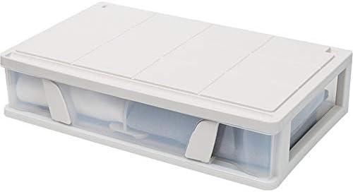 Caja de Almacenamiento para Debajo de la Cama Tunya, apilable, con Caja de Acabado extraíble para Ropa: Amazon.es: Hogar