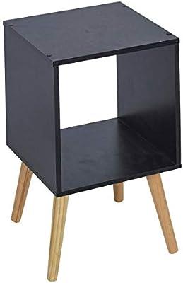 URBNLIVING Beech Cube Bookcase With Beech Scandinavian Legs