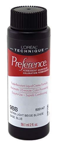Light Beige Blonde - Loreal Preference Color #9Bb Extra Light Beige Blonde (6 Pack)