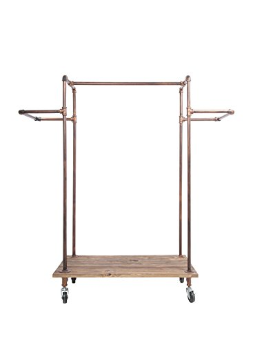 Newtech Display IND-R3/BR H-Rack with Wood Base/Brass