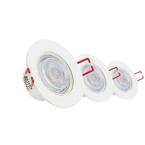 Xanlite PACK3SEL345D Plafondlamp, inbouwlamp, 3 spots, geïntegreerd, dimbaar, warm wit, PACK3SEL345D
