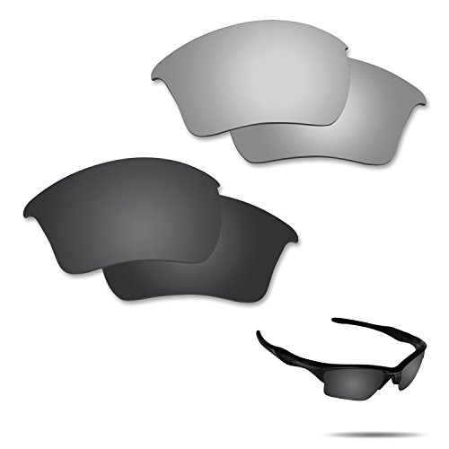 Optic Crystal Golf Ball (Fiskr Anti-saltwater Polarized Replacement Lenses for Oakley Half Jacket 2.0 XL Sunglasses 2 Pairs Packed)