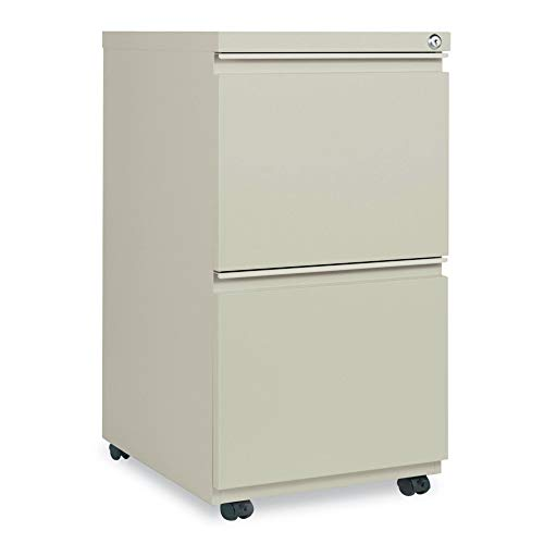 Alera ALEPBFFPY Two-Drawer Metal Pedestal File With Full-Length Pull, 14 7/8w x 19 1/8d, Putty ()