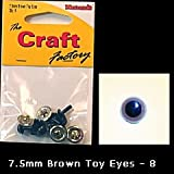 Safety Toy Eyes 7.5mm Brown