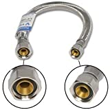 3/8'' Comp X 1/2'' Fip X 12'' Stainless Steel Faucet Supply Line