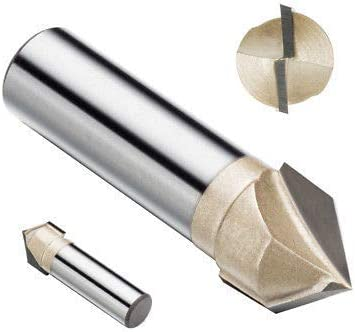 V-Groove Router Bit, 1/4 Inch Shank Titanium Coated Carbide-Tipped Engraving V Groove Router Bits for Wood Carving Bit