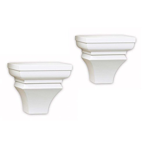 InPlace Shelving 0199150 6.5-Inch Wide Pair of Wall Sconces, White