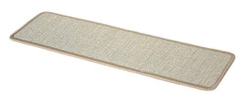 - Dean Non-Slip Tape Free Pet Friendly Stair Gripper Natural Fiber Sisal Carpet Stair Treads - Island Sand 29