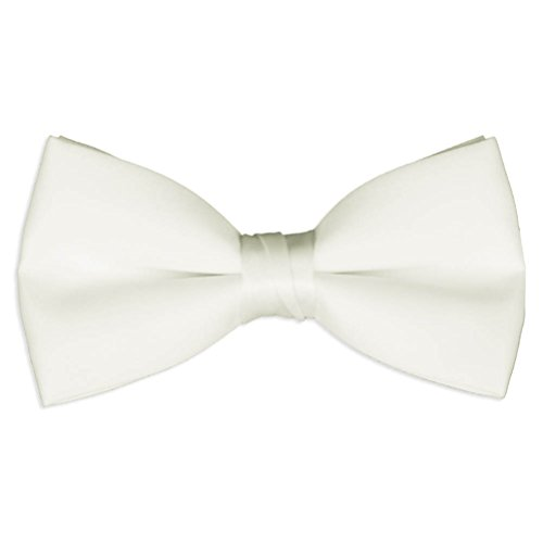 Mens Ivory Satin Bow Tie