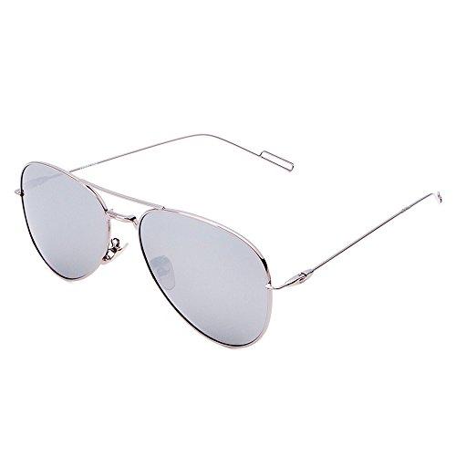 Celaine Polarized Sunglasses, Unisex Aviator Mirrored Lens Metal Frame Men Women Sunglasses UV400 Protection - Sunglasses 160mm