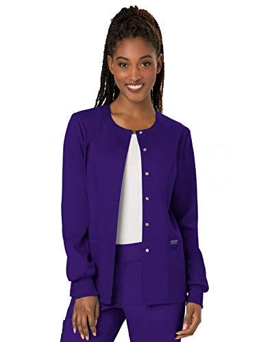 Cherokee Women's Snap Front Warm-up Jacket, Grape, ()