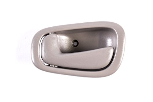 Replacement Front Left Driver Side Gray Door Handle for 1998-2002 Toyota Corolla TO1352165 (1998, 2000, 2001, 2002) ()