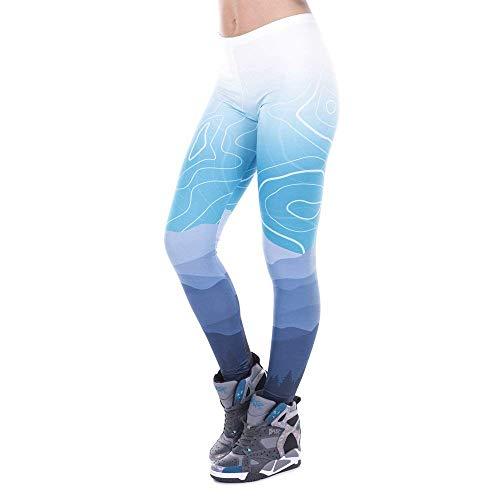 Legging Mujer Silm Cintura Freeride Fit Yoga De Leggings Targogo Pantalones Legins Deer Mujeres Alta Impreso Lga43471 Points Elástico HZzzqw