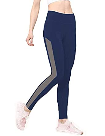 Neu Look Gym wear Leggings Ankle Length Workout Tights | Stretchable Sports Leggings | High Waist Sports Fitness Yoga Track Pants for Girls & Women