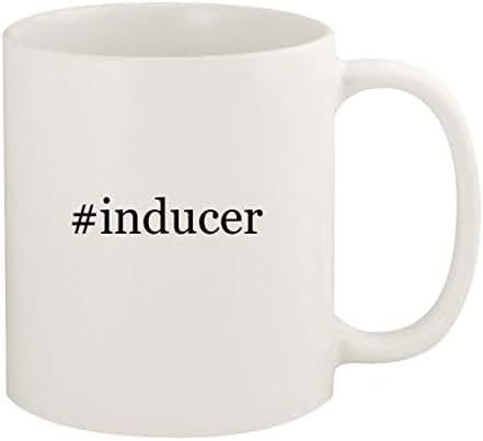 #inducer - 11oz Hashtag Ceramic White Coffee Mug Cup, White