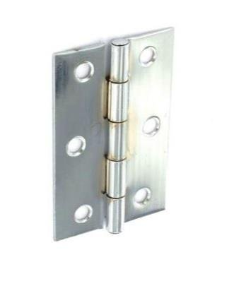 (Securit Steel Butt Hinges Zinc Plated, 100mm)