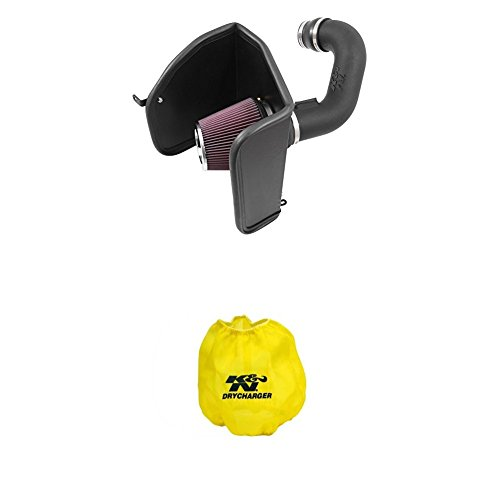 K&N 63-3088 Performance Air Intake System with Yellow Air Filter Wrap