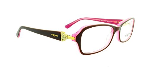 Vogue VO2789B Eyeglass Frames 1941-5216 - Top Brown On Pink Frame, Demo Lens