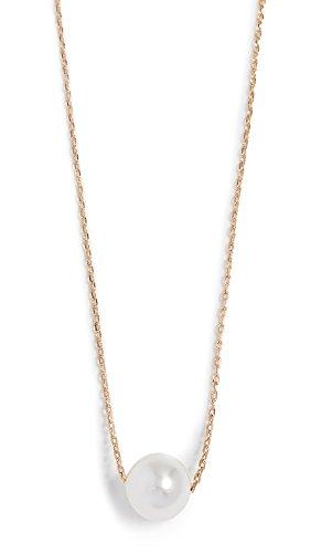 Theia Jewelry Women's Petite Swarovski Imitation Pearl Necklace, Yellow Gold, One Size