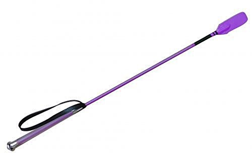 "Showman Soft Gel Grip Handle Shaft Training Whip Riding Bat Crop 26"" (Purple)"