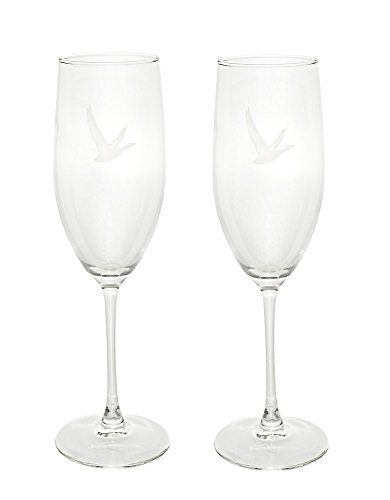 Set of 2 Grey Goose Premium Vodka France Champagne Flutes Cocktail Martini Glasses (Premium Vodka)
