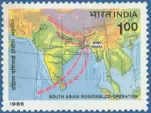 Map Of Asia Latitude And Longitude.South Asian Regional Co Operation Summit Saarc Map South Asian