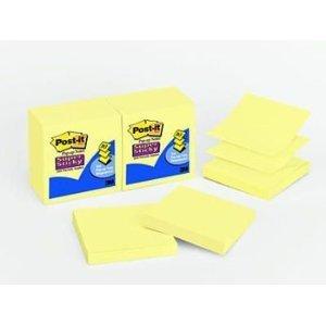 Notes Super Sticky Pop - Super Sticky Pop-ups, 3 quot;x3 quot;, 90 Sheets/PD, 12/PK, Canary