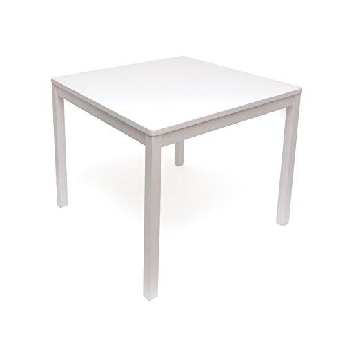 Lipper International 585W Child's Square Table, 23.5'' W x 23.5'' D x 20'' H, White by Lipper International