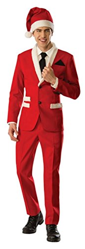 Christmas Suit (Rubie's Men's Santa Tuxedo, Red, Medium)