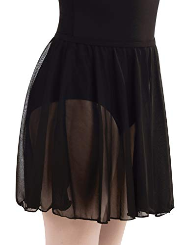 (Body Wrappers Girls Chiffon Pull-on Dance Skirt BW198NAVTS Navy TS)