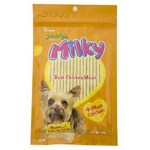 10x Jerhigh Milky Stick Dog Snack 80g NEW Made From Thailand