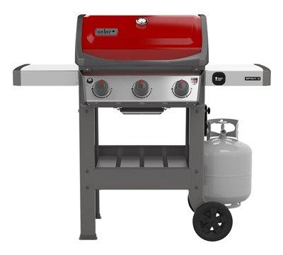 Weber 45030001 Spirit II E-310 Red LP Outdoor Gas Grill