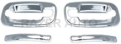 1999-2006 GMC SIERRA Razer Auto CHROME DOOR HANDLE COVER 2D W//PASSENGER SIDE KEYHOLE for 1999-2006 CHEVY CHEVROLET SILVERADO