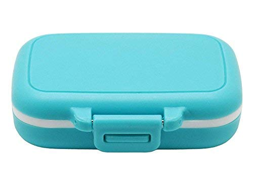 Pill Box Dispenser sorter- 3 Large Removable Organizer compartments Travel Medication Carry Cases - Daily/Weekly Vitamin Medicine Pillbox organizar Reminder Boxes 7 Times a Day am pm containers