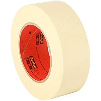 """3M 200 2"""" x 60yd Utility Purpose Paper Tape - 2"""" x 60 Yards, Crepe Paper, Natural, 1 roll"""