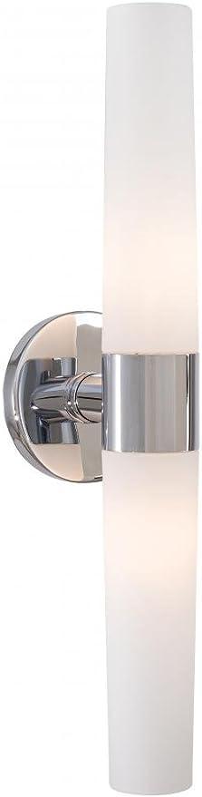 George Kovacs P5042 077 Saber Glass Wall Vanity Lighting 2 Light Chrome Vanity Lighting Fixtures Amazon Com