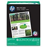 Office Recycled Paper, 92 Brightness, 20lb, 8-1/2 x 11, White, 500 Sheets/Ream, Sold as 1 Ream, 500 per Ream