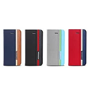 QJM Luxury Premium Design Stand PU Leather Case with Strap and Sticker for iPhone5 / 5SAssorted Colors) , Gray