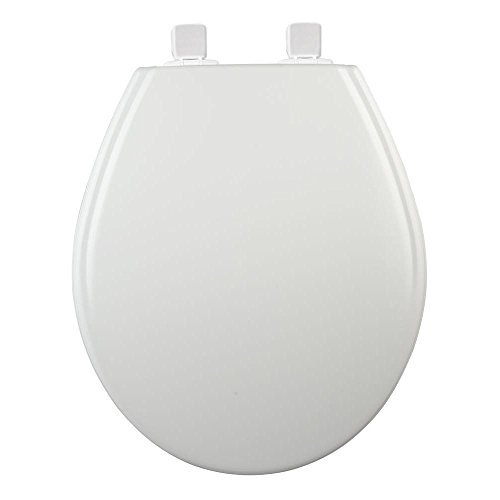 BEMIS Adjustable Slow Close Never Loosens Round Closed Front Toilet Seat in White by BEMIS