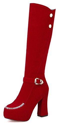 Sfnld Women's Fashion Round Toe Rhinestones Beaded Buckle...