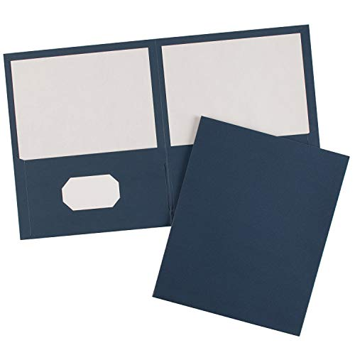 Avery Two-Pocket Folders, Dark Blue, Box of 25 (47985) 2 Pocket Card Case