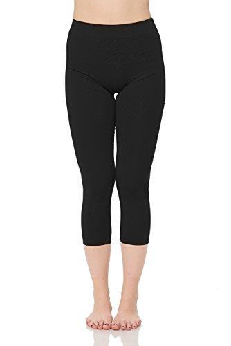 JP Womens Capri Leggings Black