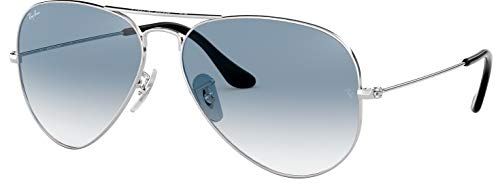 Ray-Ban RB3025 003/3F 55mm Silver / Crystal Gradient Light Blue Made in Italy (Ray Ban Eyeglasses Made In Italy)