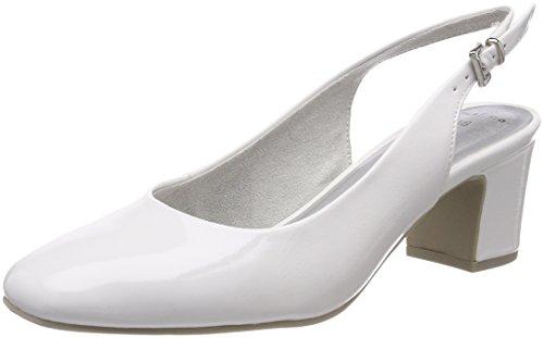Marco Tozzi 29600, Escarpins Femme Blanc (White Patent)