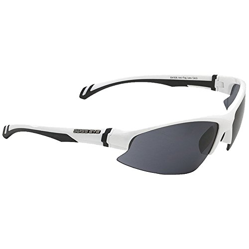 Swiss Eye Flash Sunglasses 3 Changeable Lenses White Shiny - Brands Swiss Sunglasses
