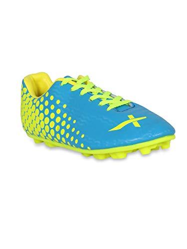 Vector X Volt Football Shoe, Adult Size 5  Blue/Green