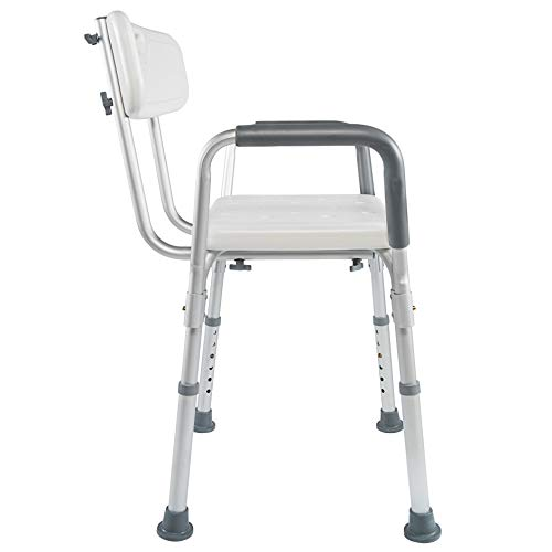 Medical ToolFree Assembly Spa Bathtub Shower Lift Chair Portable Bath Seat Adjustable Shower Bench White Bathtub Lift Chair with Arms