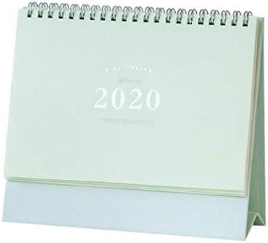 NUOBESTY 2020 kalender monatlicher tischkalender spulenkalender 2020 tischkalender (grün)