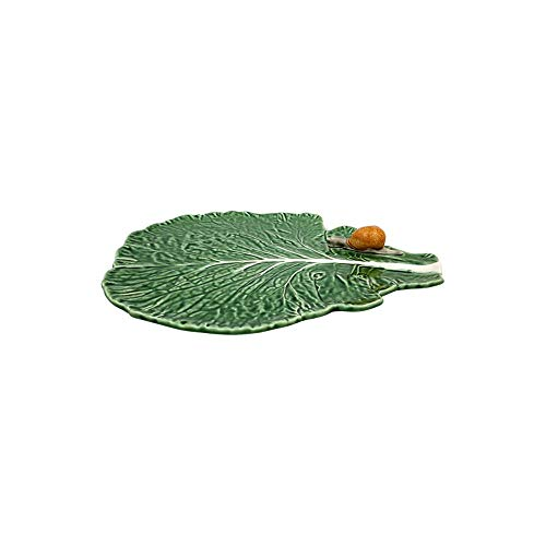 Bordallo Pinheiro Cabbage Leaf with Snail Plate, Green for sale  Delivered anywhere in USA