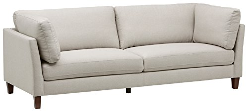 Rivet Midtown Mid-Century Modern Upholstered Sectional Sofa Couch, 92.1 W, Cream